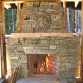 Rumford Fireplace and Decretive Stone Work