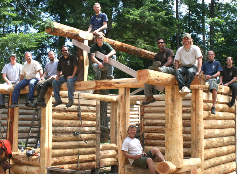Island school of building arts courses building with for Log construction
