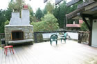 Deck with Rumford Fireplace